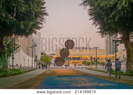 Rothschild Boulevard And Ha-bima Square, In Tel-aviv