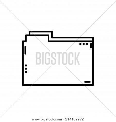 line file folder to save documents information vector illustration