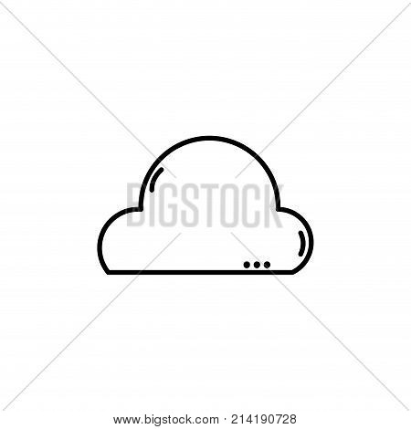 line natural cloud in the sky and nice weather design vector illustration