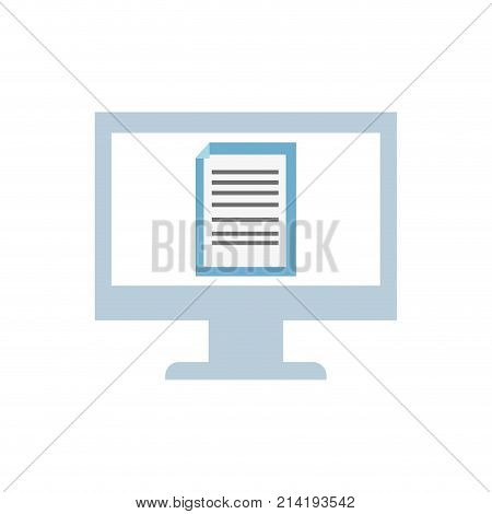 electronic document information inside computer technology vector illustration