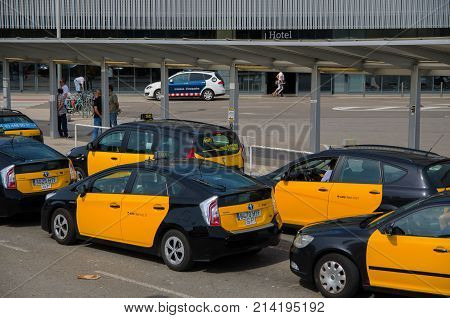 Barcelona Taxi Editorial Image