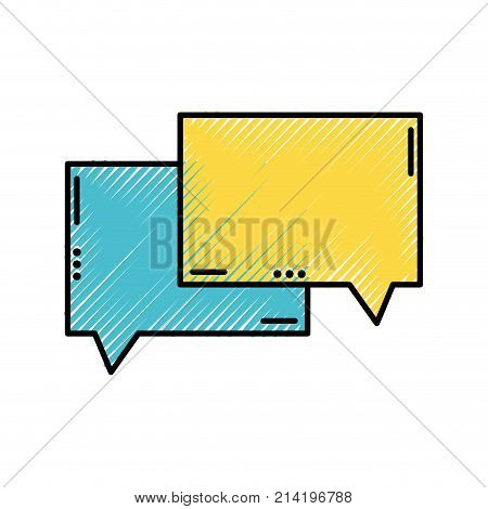 grated chat bubbles text notes message vector illustration