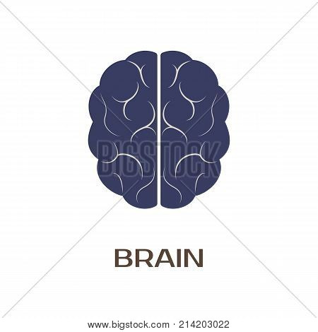 Logotype of brain. vector illustration isolated in white