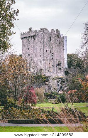 November 17th, 2017, Blarney, Ireland - Blarney Castle, a medieval stronghold in Blarney, near Cork, Ireland, and the River Martin.