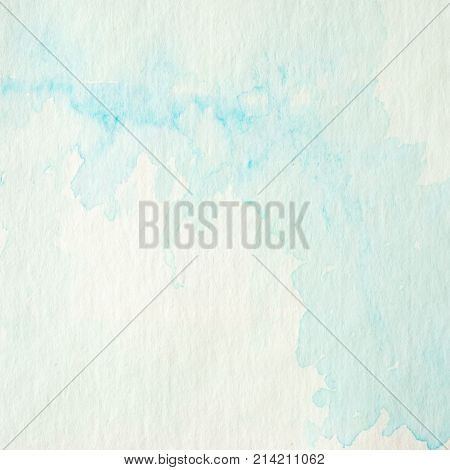 Blue and green abstract watercolor painting textured on white paper background watercolor background for art and design concept