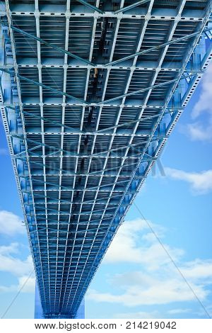The Verrazano-Narrows Bridge spanning Staten Island and Brooklyn New York