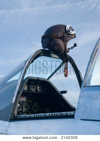 Leather Helmet And Airplane