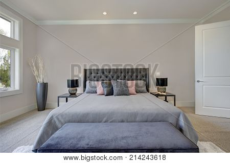 Master Bedroom Interior With King Size Bed