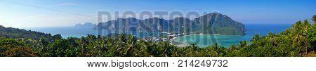 Panoramic View on Ko Phi Phi Don