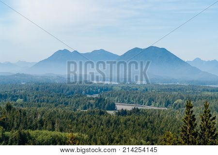 Misty Valley In Tofino - Bc, Canada