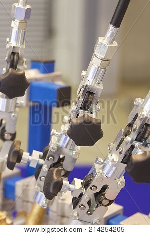 Elements of various industrial fasteners non-ferrous metal