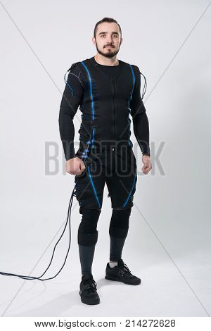 Young Fitness Man In An Electric Stimulation