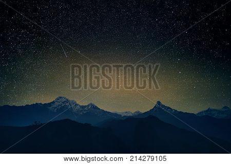 Stars In Himalayas