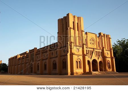 The cathedral in Ouagadougou, Burkina Faso