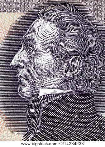 Jose Gervasio Artigas portrait from Uruguayan Pesos