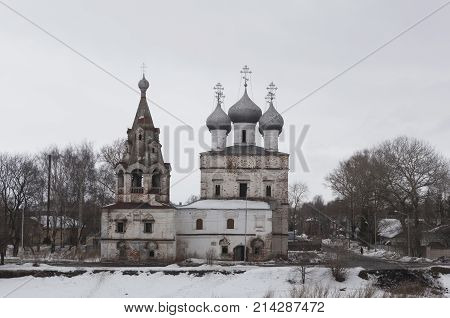 Church of St John Chrysostom the Myrrh-Bearers in city of Vologda, Russia