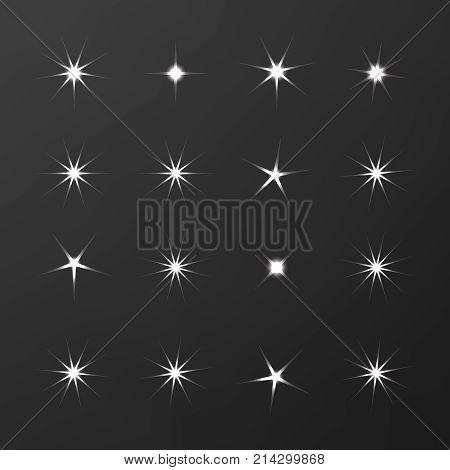 Icon Sparkle Line. Bright Firework, Decoration Twinkle, Shiny Fl
