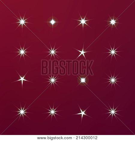 Bright Firework, Decoration Twinkle, Shiny Flash. Glowing Light