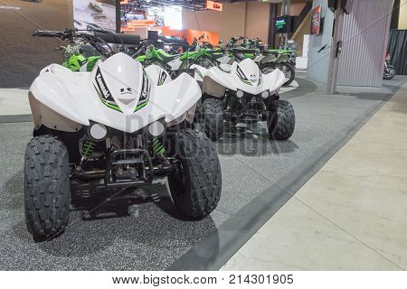 Kawasaki 4 Wheeler On Display