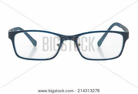 Fashion glasses isolated on white background closeup