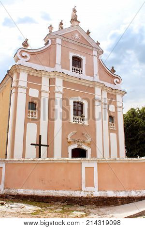The Church of the Holy Sepulcher of Jehoshaphat (former Trinitarian Church or Holy Trinity Church) is a memorial of the late Baroque sacred architecture in the city of Kamyanets-Podilsky, Ukraine