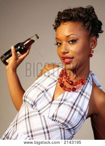 Cute Girl With Soda