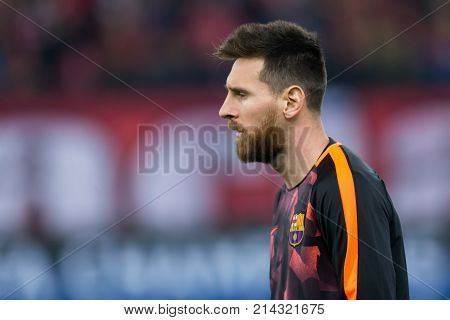 Uefa Champions League Game Between Olympiacos Vs Fc Barcelona