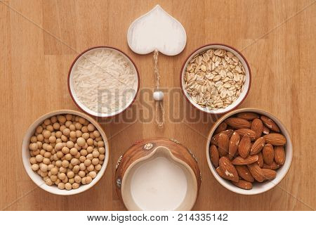 It is image of ingredients on plant milk