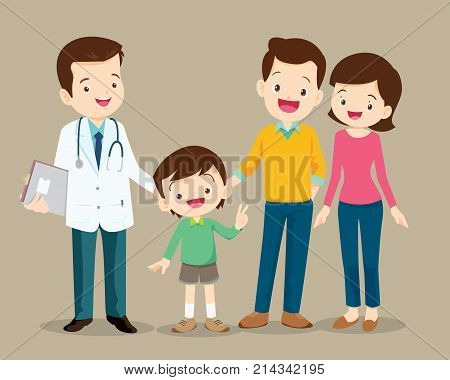 Family Visiting The Doctor