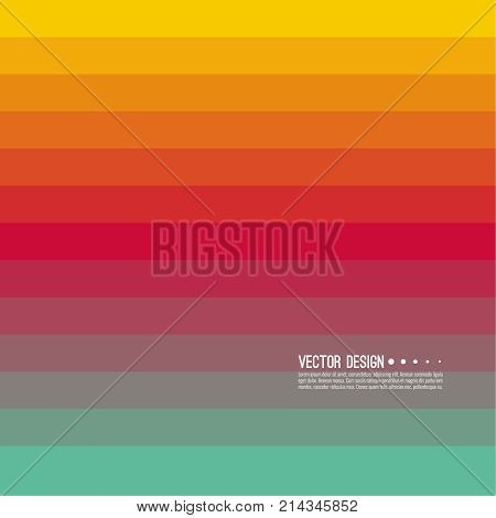 Abstract background with rhythmic rectangular horizontal stripes. Transition and gradation of color. Vector blend gradient for illustrations, covers and flyer. Color green, pink, red, yellow.