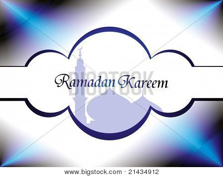 abstract effect background with mosque