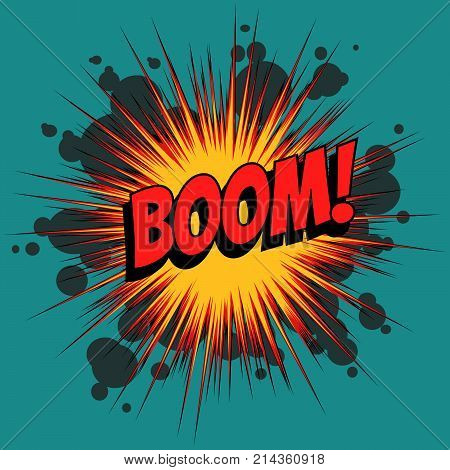 Boom comic book explosion. Pop art retro vector illustration