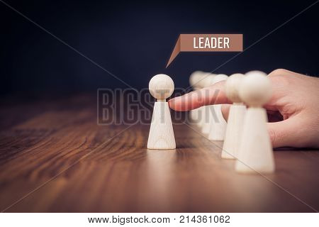 Leader leave his comfort zone and get out of the crowd. Personal development, motivation and challenge concepts.