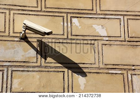 video surveillance camera for building security, outdoor