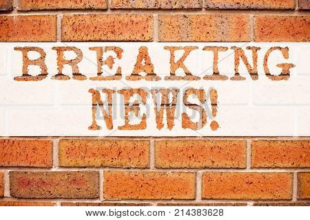Conceptual Announcement Text Caption Inspiration Showing Breaking News. Business Concept For Newspap