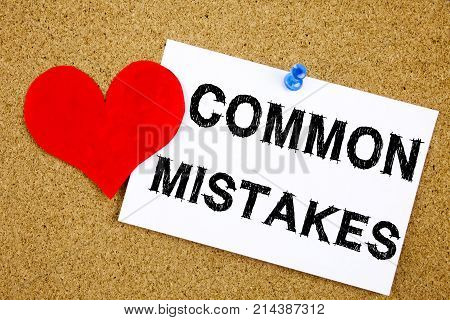 Conceptual Hand Writing Text Caption Inspiration Showing Common Mistakes Concept For Common Decision