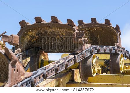 Abstract Textures And Shapes: Digger Machine Parts