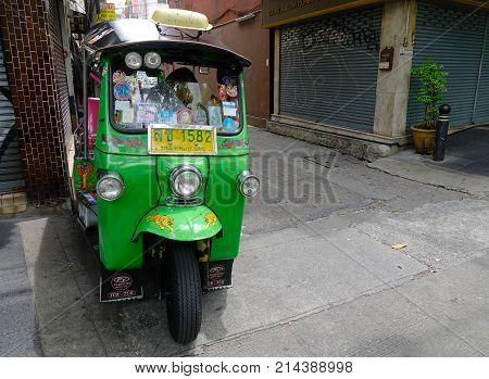 A Tuk Tuk On Street In Bangkok, Thailand