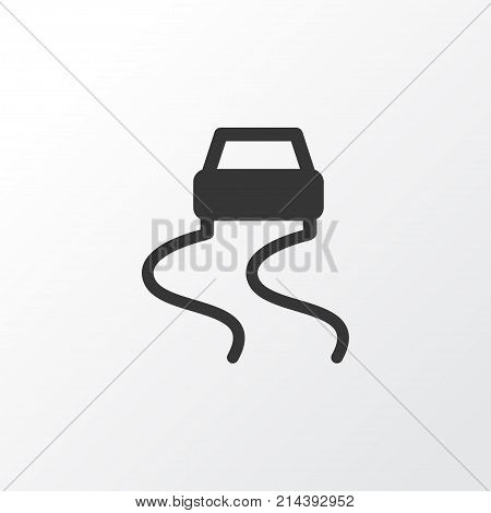 Slippery Way Icon Symbol. Premium Quality Isolated Dangerous Element In Trendy Style.
