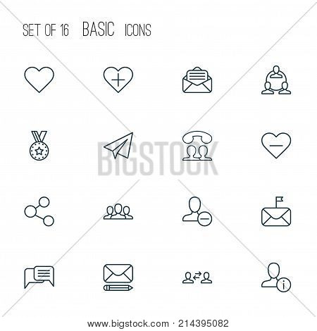 Communication Icons Set With Publication, Business Exchange, Chatting And Other Delete Elements. Isolated Vector Illustration Communication Icons.