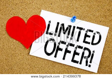 Conceptual Hand Writing Text Caption Inspiration Showing Limited Offer Concept For Limited Time Sale