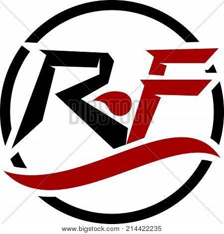 Modern Solution Letter R F Logo Design Template Vector