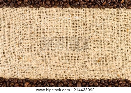 Top And Bottom Coffee Frame On Jute Bag