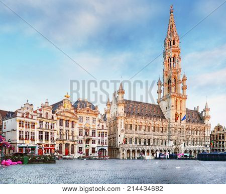 Grand Place in Brussels Belgium at day