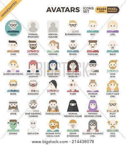 Human Diversity Avatar Icons