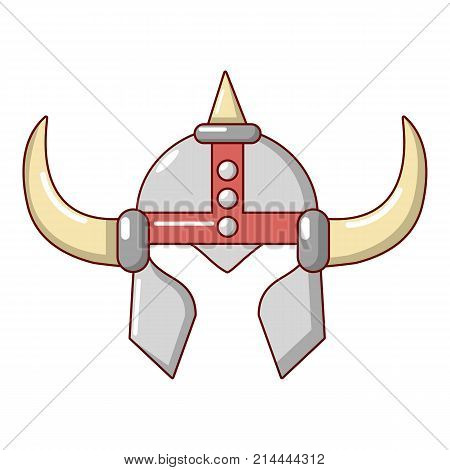 Viking helmet knight icon. Cartoon illustration of viking helmet knight vector icon for web