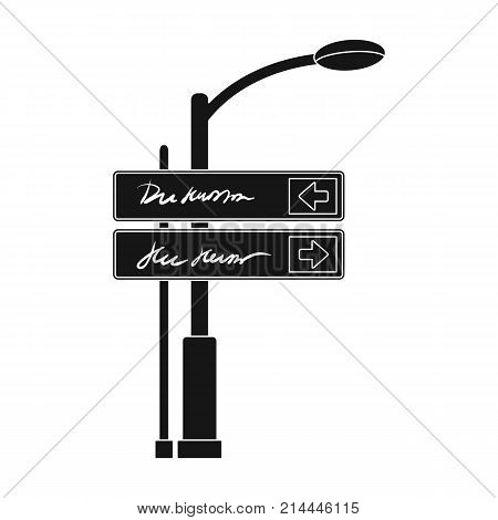 Sign single icon in black style.Sign vector symbol stock illustration .