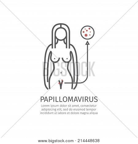 Human papillomavirus HPV. Vector signs for web graphics