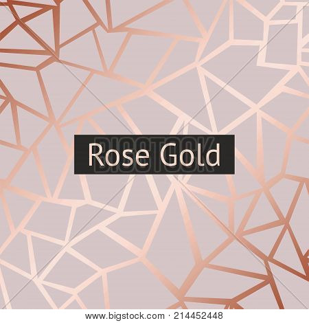 Rose gold. Vector decorative background with imitation of rose gold for sales printing and design of greeting cards covers banners