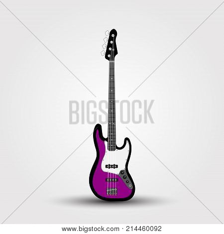 Electric Bass Guitar Isolated